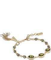 Cole Haan - 3 Stone Beaded Pull Tie Bracelet