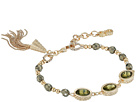 Cole Haan 3 Stone Beaded Pull Tie Bracelet