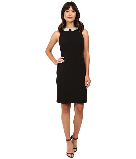 rsvp Brentwood Crepe Sheath Dress - Black