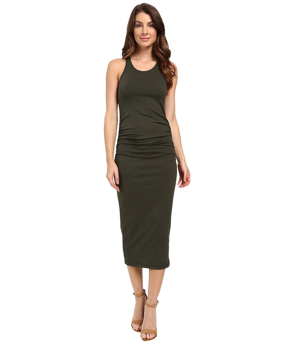 Michael Stars Racerback Dress w/ Shirring (Tarragon) Women