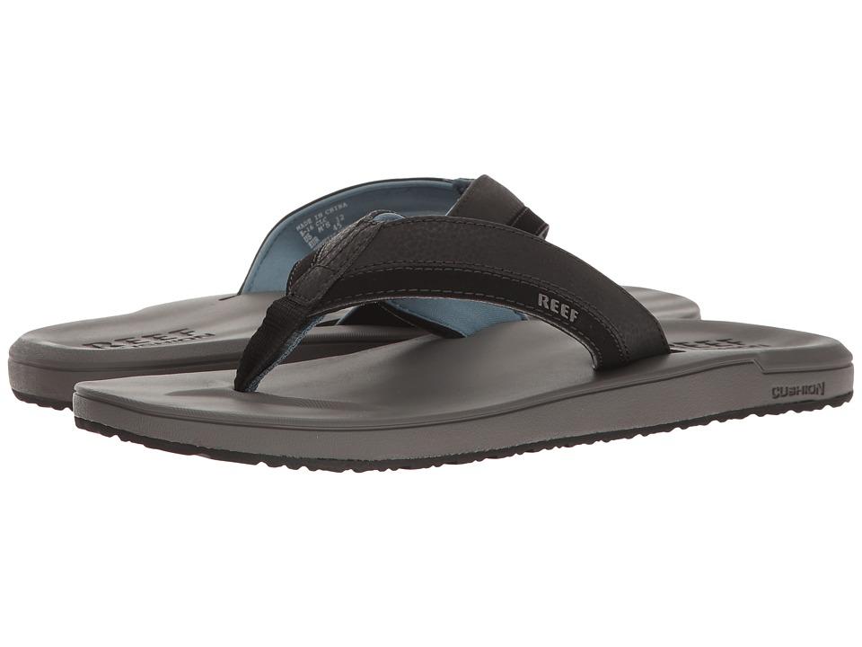 Reef - Contoured Cushion (Grey/Blue) Men's Sandals