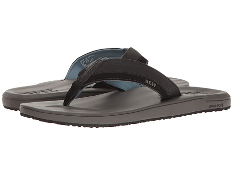 Reef Sandals Mens Reef Contoured Cushion Flat Grey/Blue 3770158
