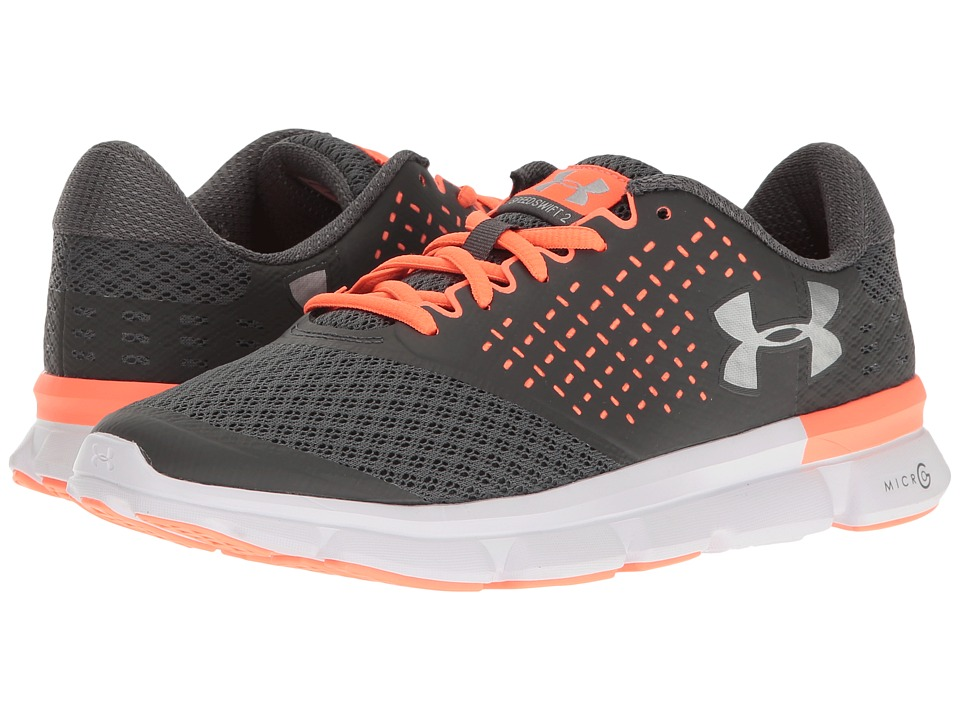 Under Armour - UA Micro G Speed Swift 2 (Rhino Gray/London Orange/Metallic Silver) Womens Running Shoes