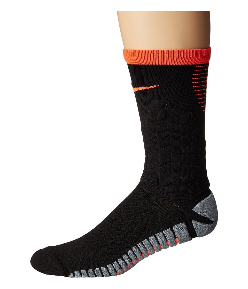 Nike - Strike Hypervenom Crew Football Socks (Black/Total Crimson/Total Crimson) Crew Cut Socks Shoes