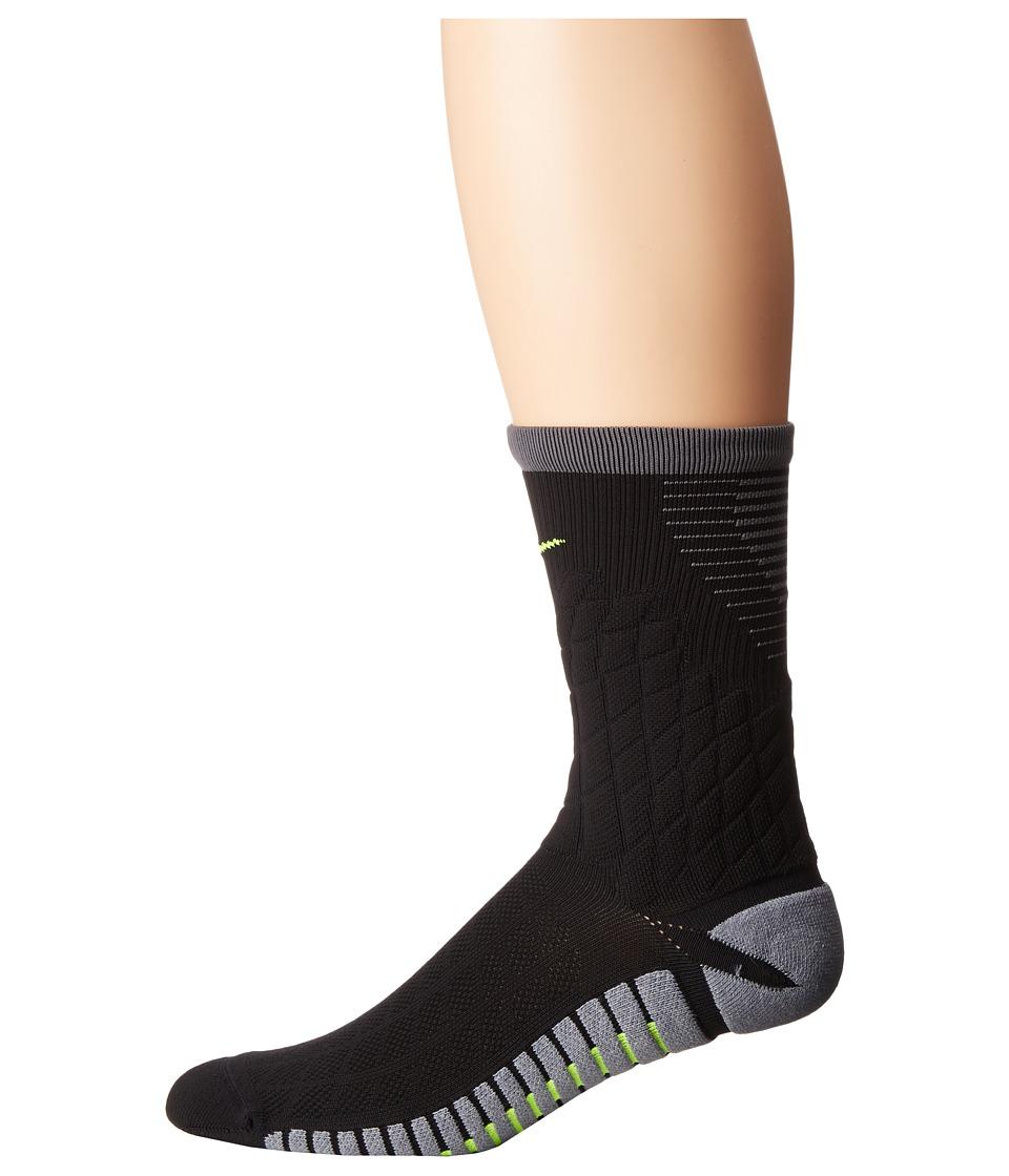 Nike - Strike Hypervenom Crew Football Socks (Black/Cool Grey/Volt) Crew Cut Socks Shoes