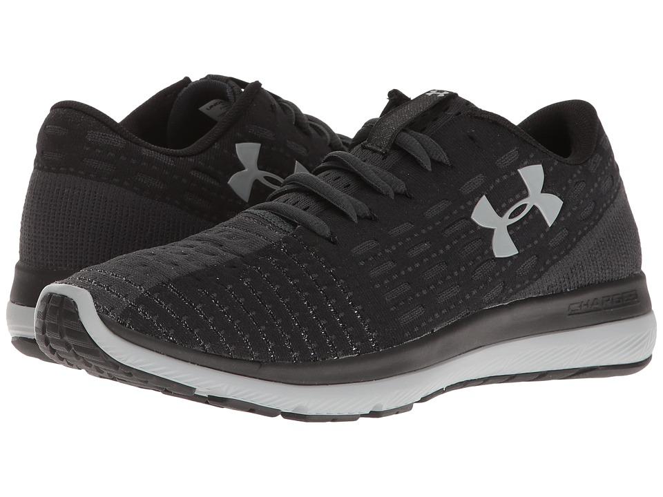 Under Armour - UA Threadborne Slingflex (Black/Anthracite/Overcast Gray) Womens Running Shoes