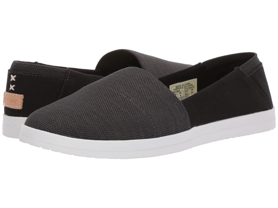 Reef Rose (Black) Slip-On Shoes