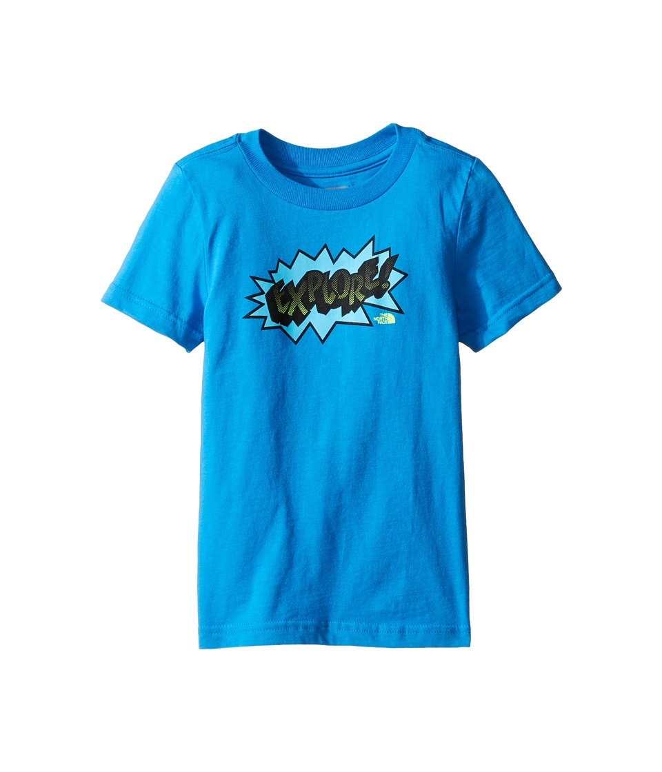 The North Face Kids Short Sleeve Graphic Tee (Toddler) (Clear Lake Blue) Boy