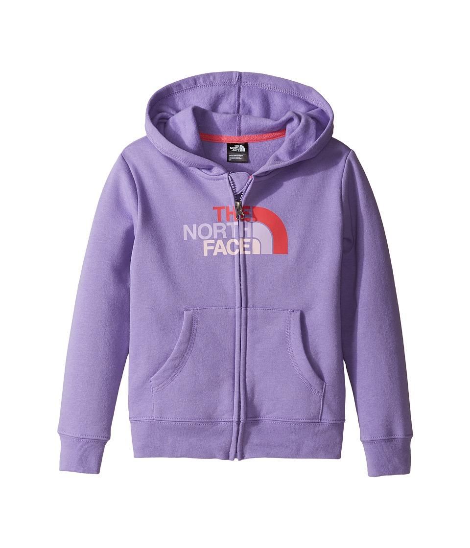 The North Face Kids Logowear Full Zip Hoodie (Toddler) (Paisley Purple) Girl