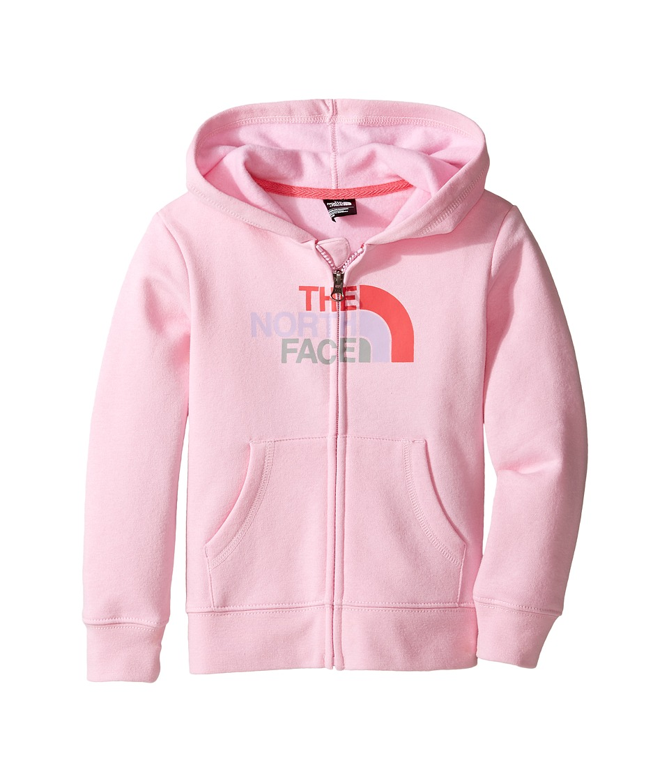 The North Face Kids Logowear Full Zip Hoodie (Toddler) (Lilac Sachet Pink) Girl