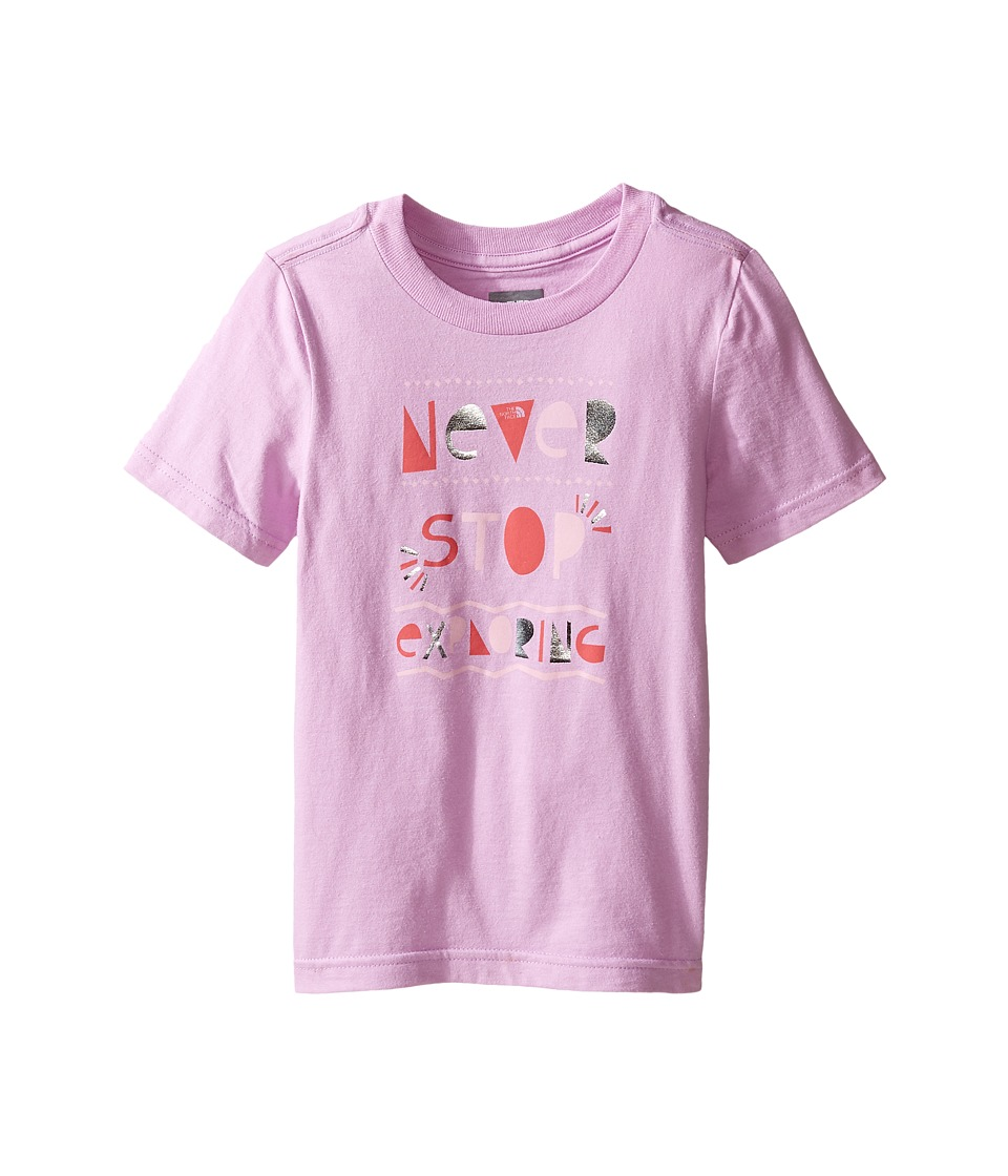The North Face Kids Short Sleeve Graphic Tee (Toddler) (Violet Tulle) Girl