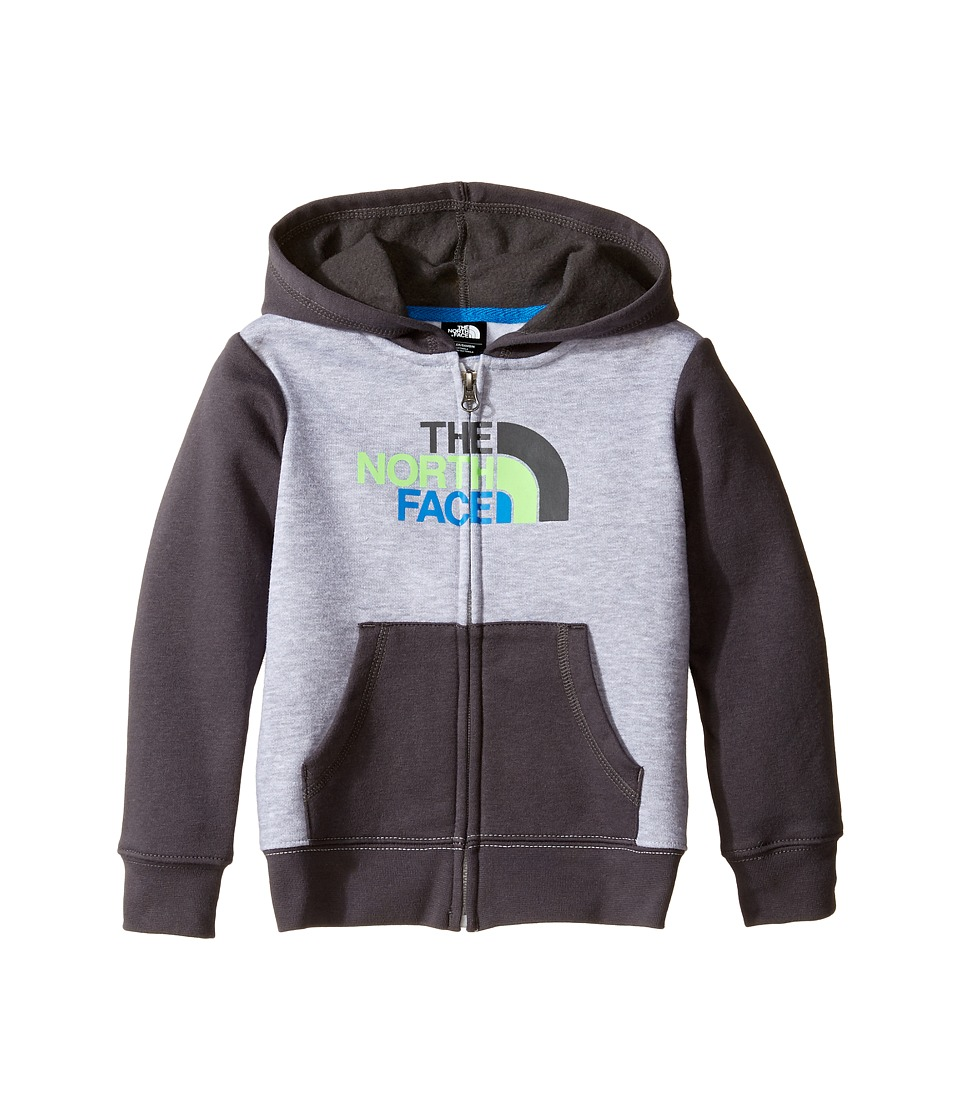 The North Face Kids Logowear Full Zip Hoodie (Toddler) (TNF Light Grey Heather) Boy