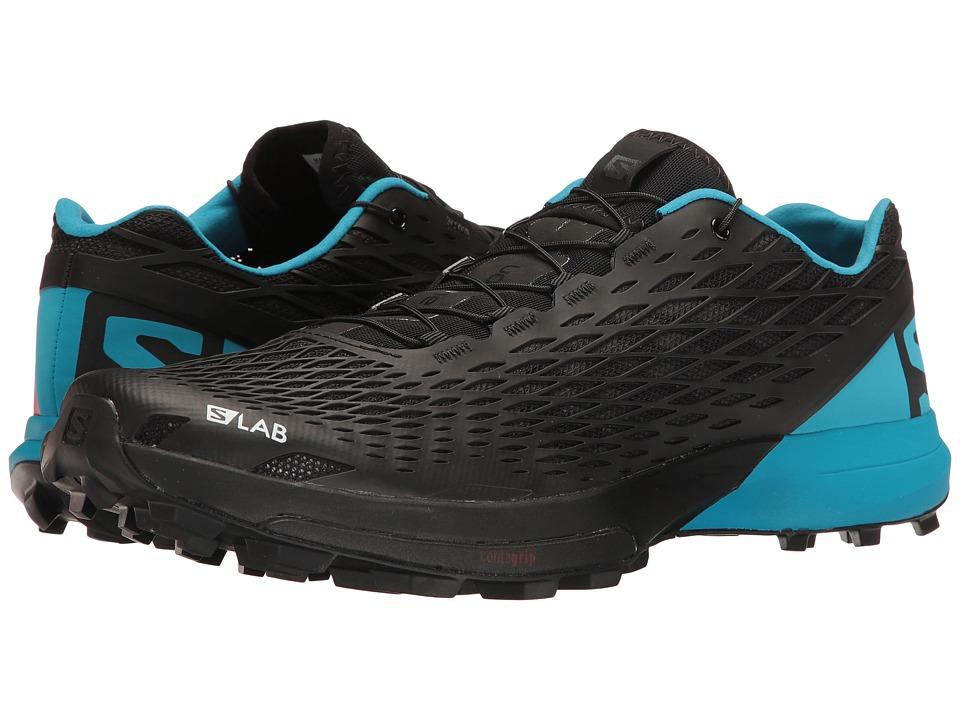 Salomon S-Lab XA Amphib (Black/Transcend Blue/Racing Red) Athletic Shoes