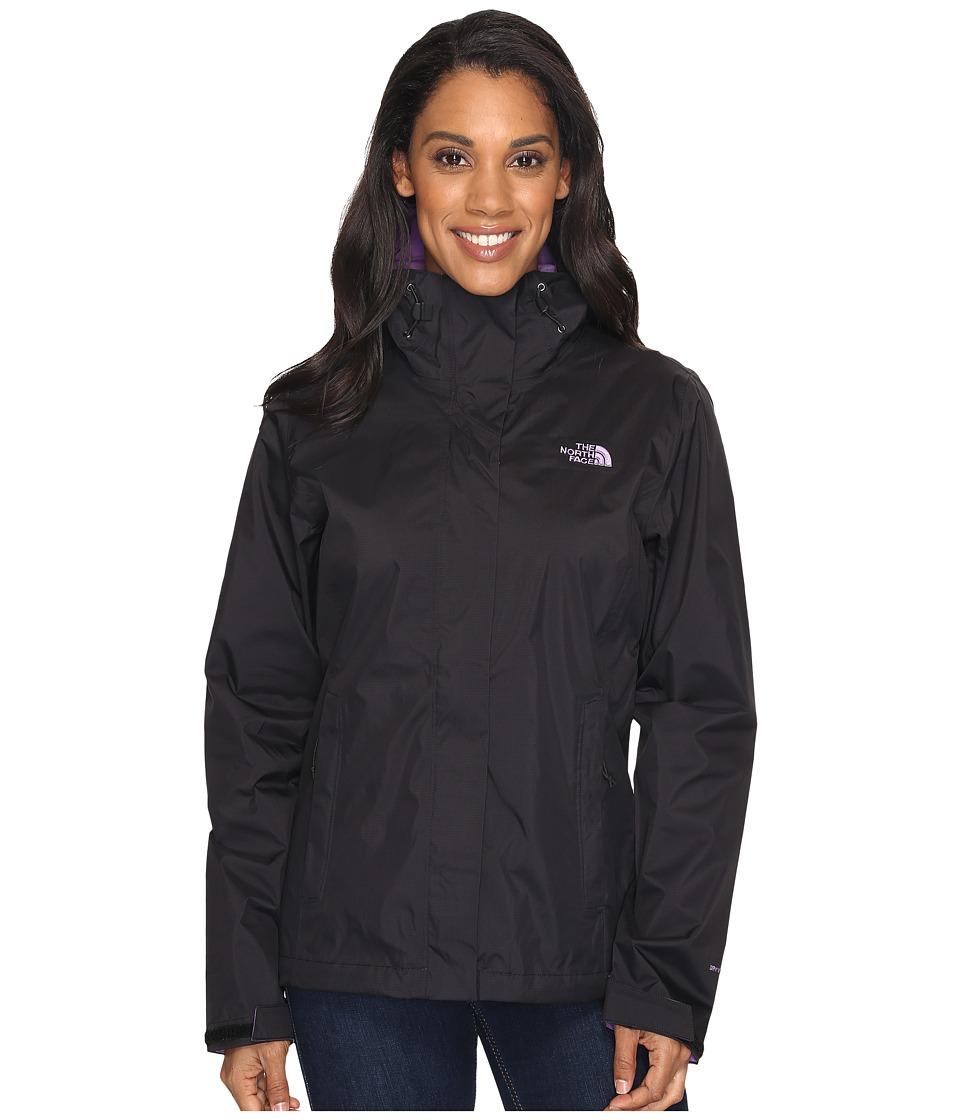 North Face Venture 2 Jacket (TNF Black/Bellflower Purple ...