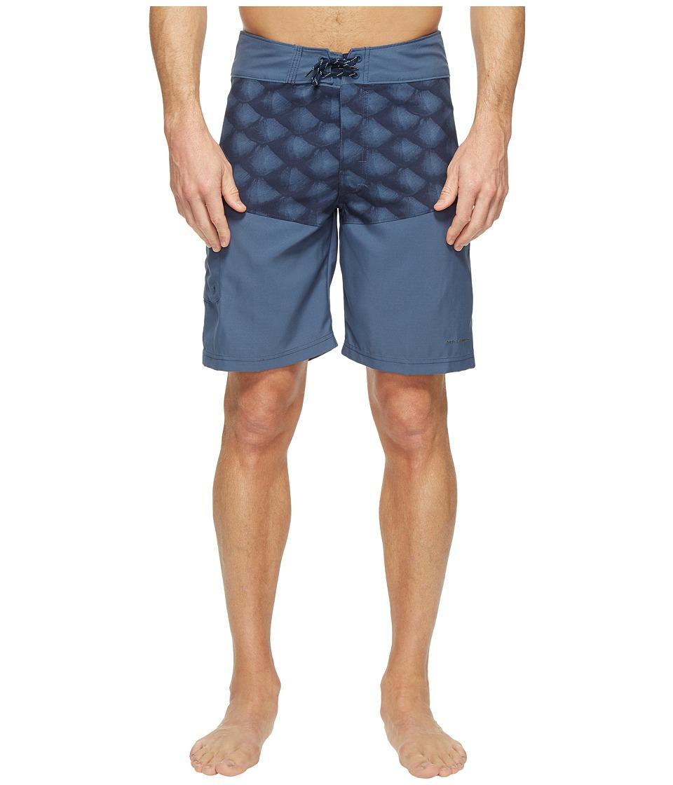 Columbia Low Drag Board Shorts (Dark Moutain Tarpon Scales) Men
