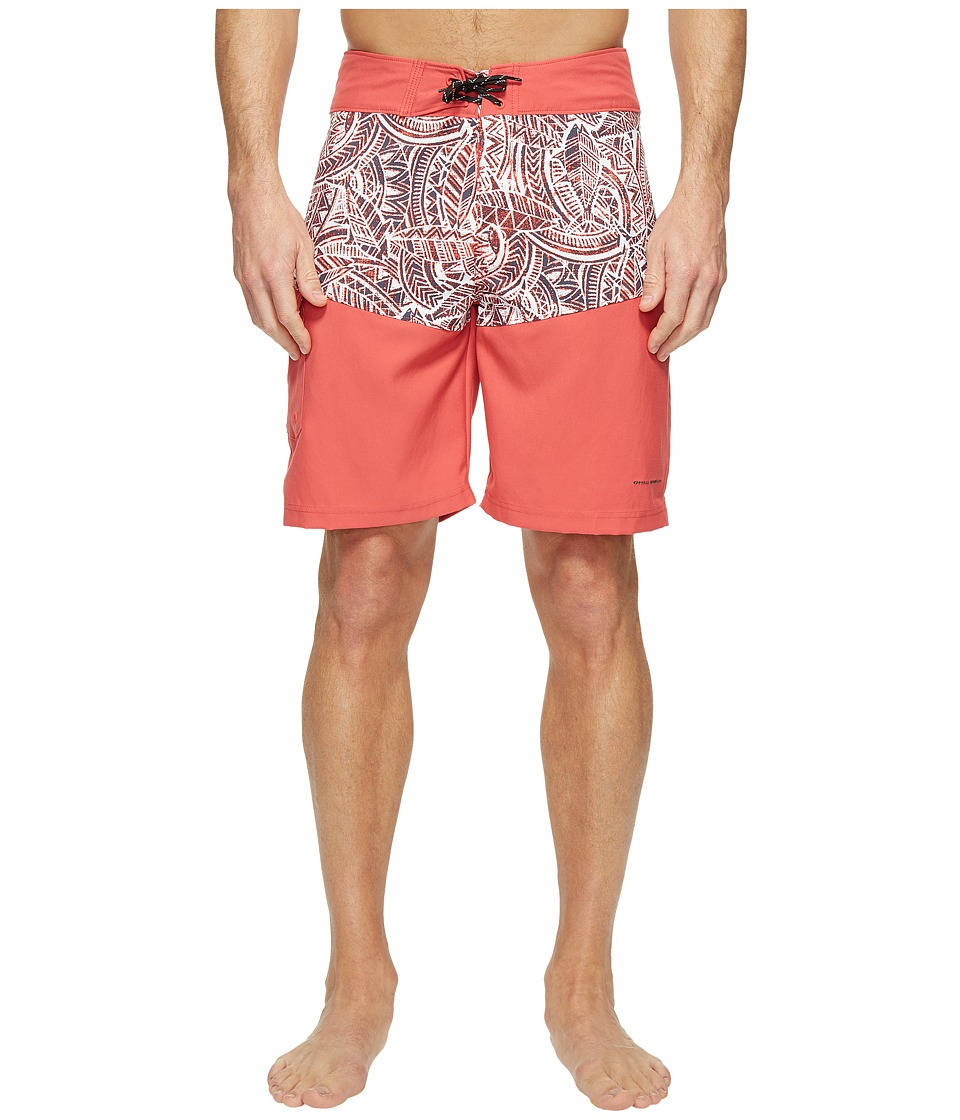Columbia Low Drag Board Shorts (Sunset Red Poly Tuna) Men