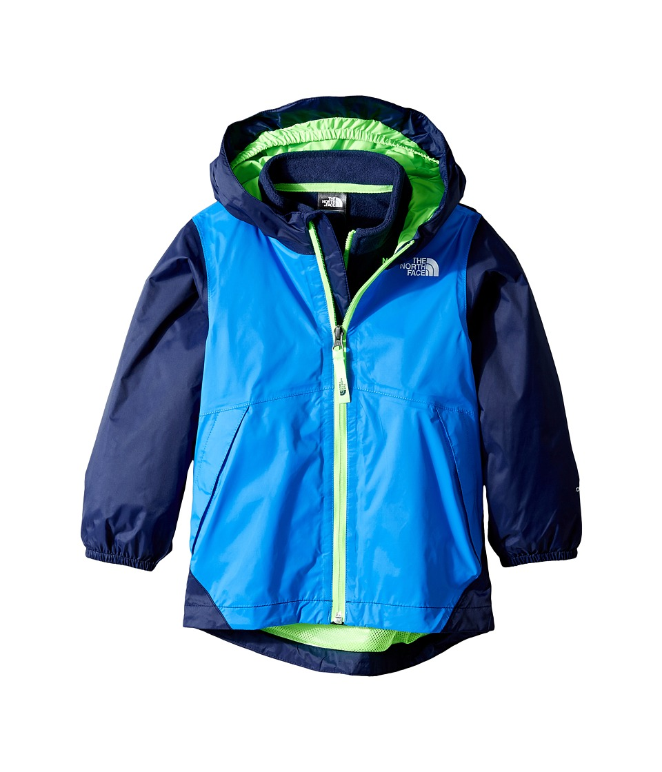 The North Face Kids Stormy Rain Triclimate Jacket (Toddler) (Clear Lake Blue/Cosmic Blue/Power Green) Boy