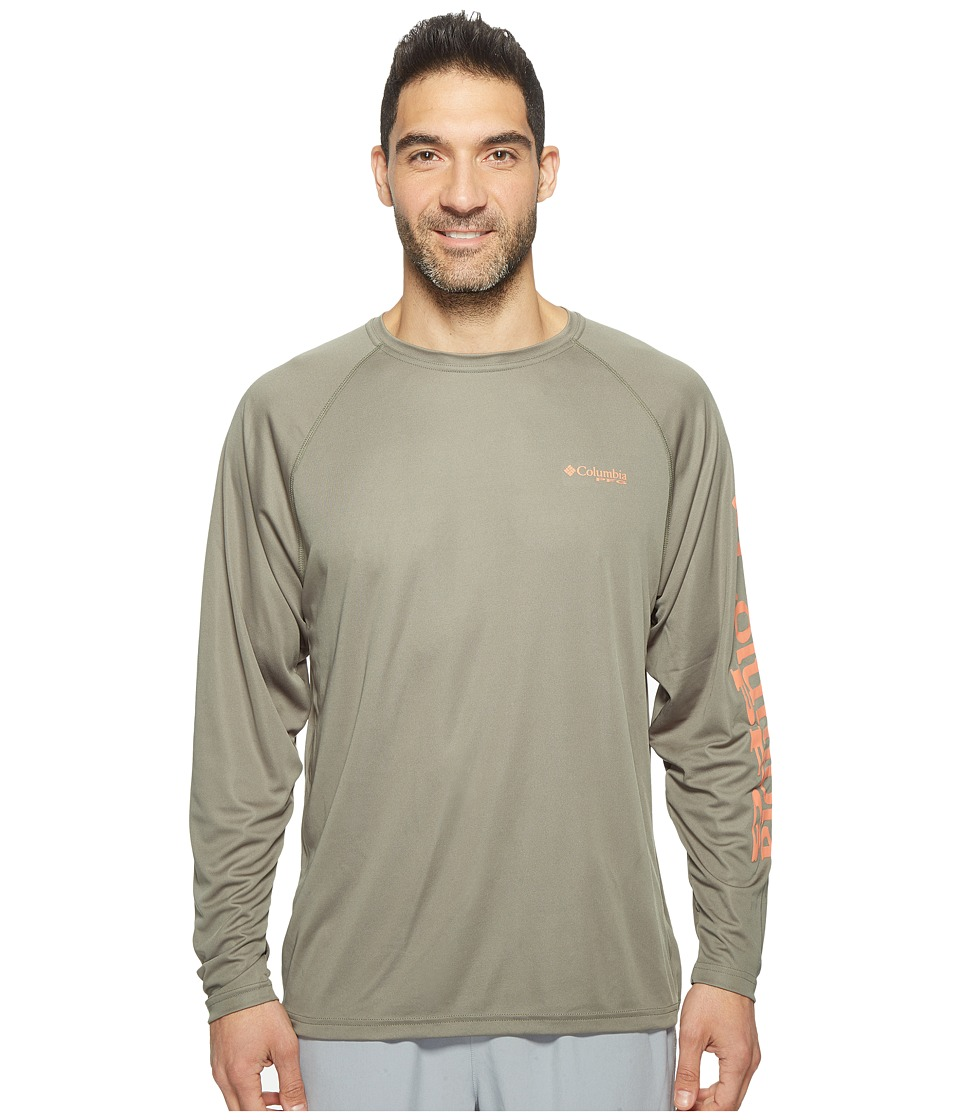 Columbia Terminal Tackle L/S Shirt (Cypress/Bright Peach Logo) Men