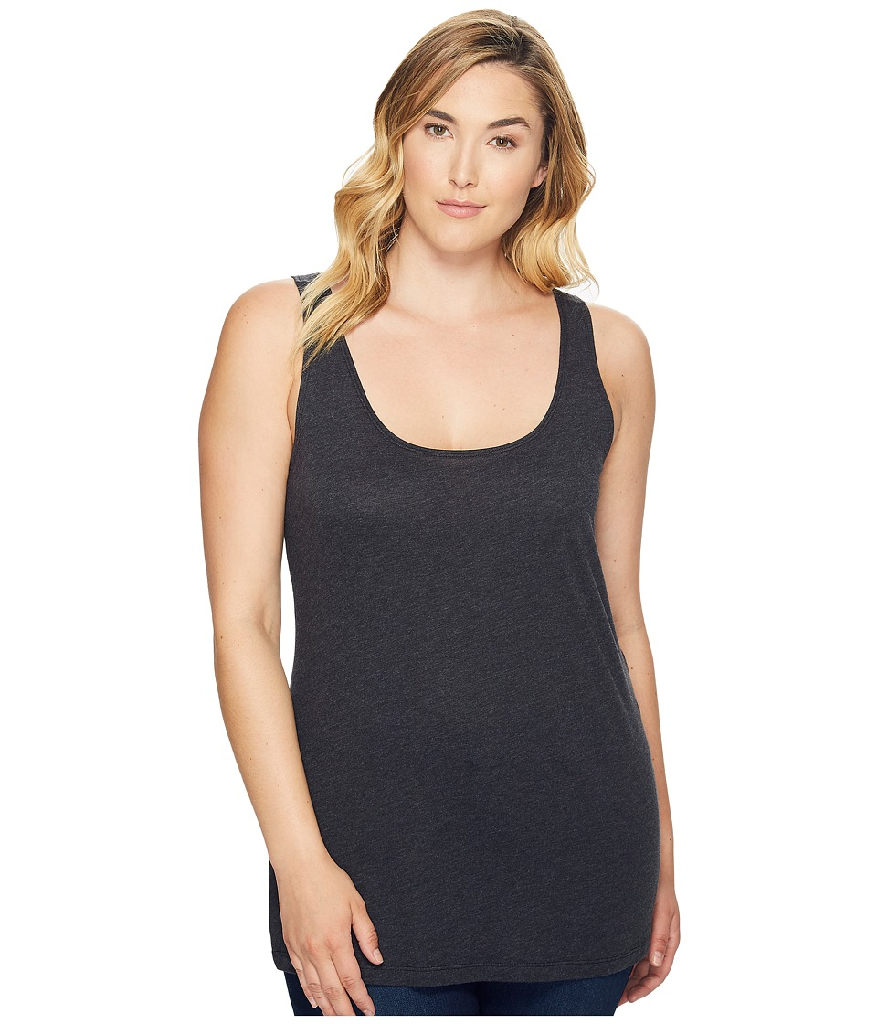Columbia Plus Size Radiant Glow Tank Top (Black Heather) Women