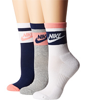 Nike - Striped Low Quarter Socks 3-Pair