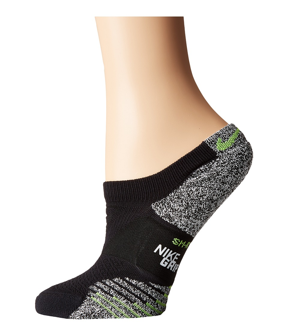 Nike - NIKEGRIP Lightweight No Show Training Socks (Black/Volt) Women's No Show Socks Shoes