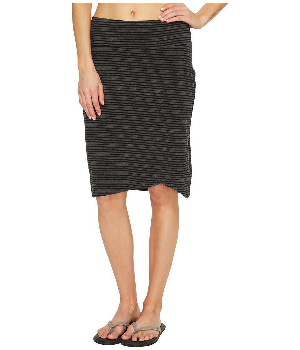 Columbia All Who Wandertm Skirt (Black Heather Stripe) Women