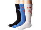 Nike Kids - Graphic Cotton Cushion Crew 3-Pair Pack (Little Kid/Big Kid)
