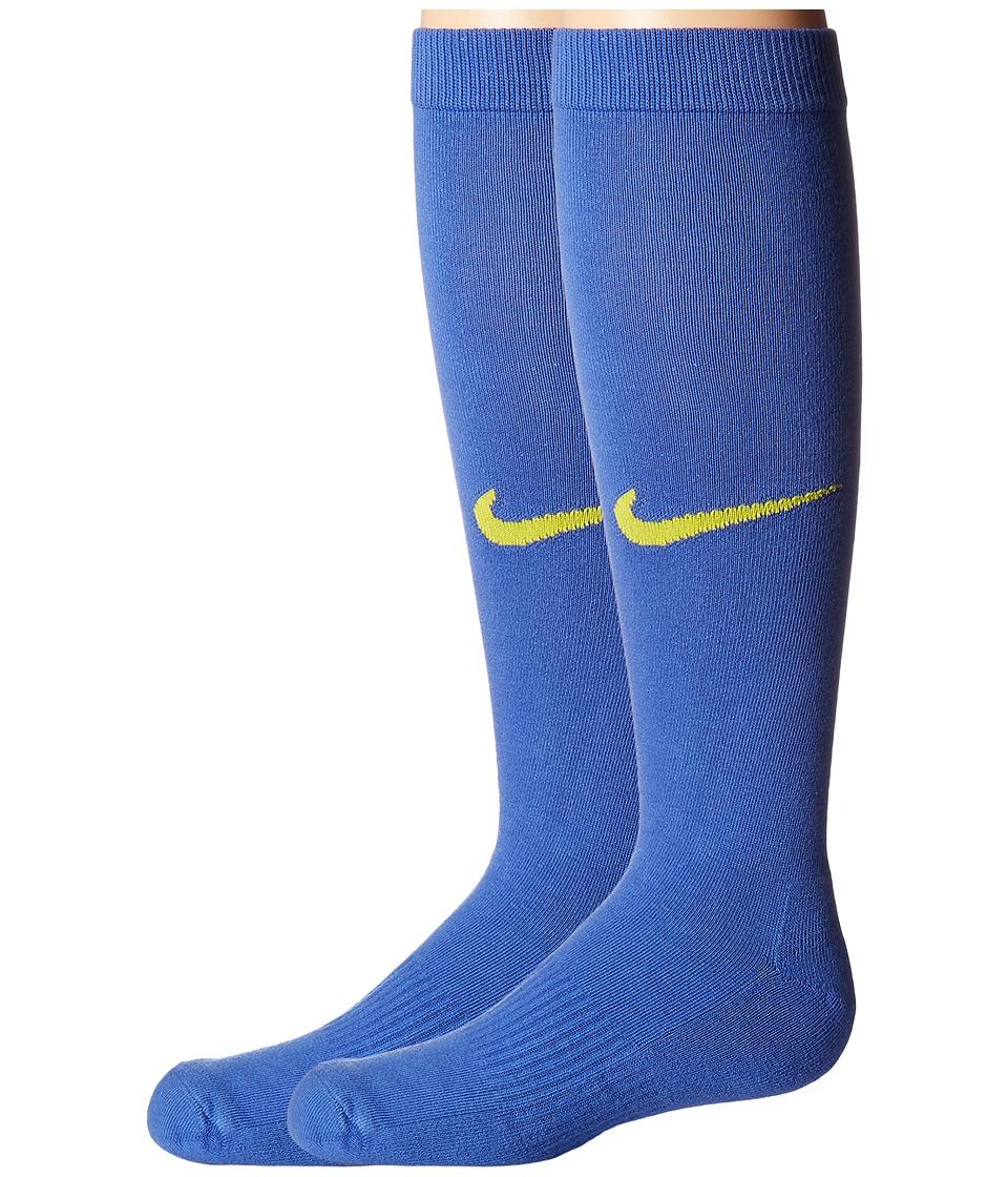 Nike Kids Graphic Lightweight Cotton Knee High (Toddler/Little Kid/Big Kid) (Comet Blue/Electrolime) Girls Shoes