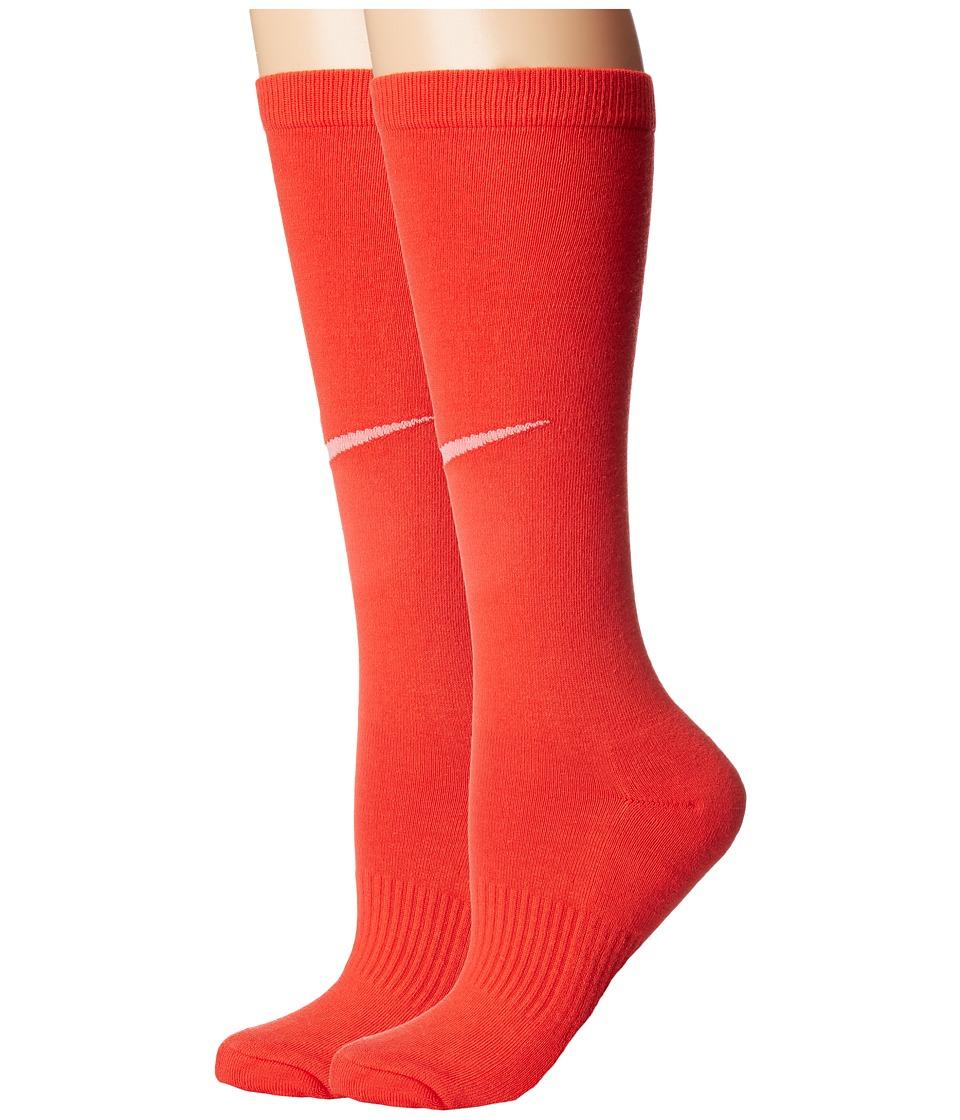 Nike Kids Graphic Lightweight Cotton Knee High (Toddler/Little Kid/Big Kid) (Max Orange/Bright Melon) Girls Shoes