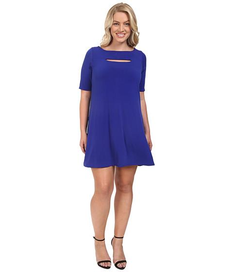 Christin Michaels - Plus Size Jan Peekaboo Dress (Royal) Women's Dress