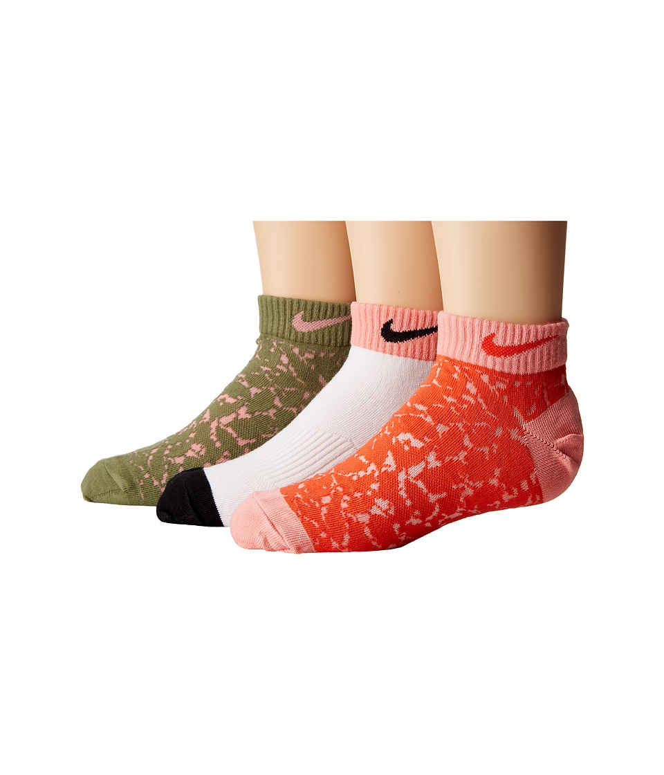 Nike Kids - 3-Pack Graphic Lightweight Cotton Low Cut