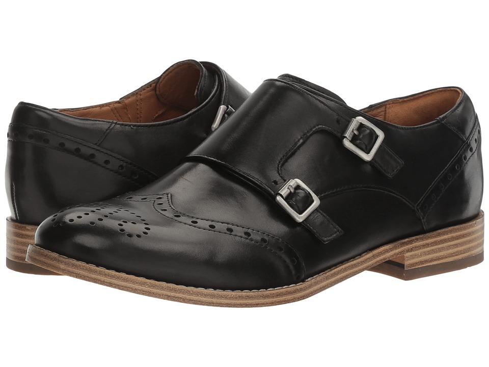 1960s Style Shoes Clarks - Zyris Vienna Black Leather Womens Shoes $107.99 AT vintagedancer.com
