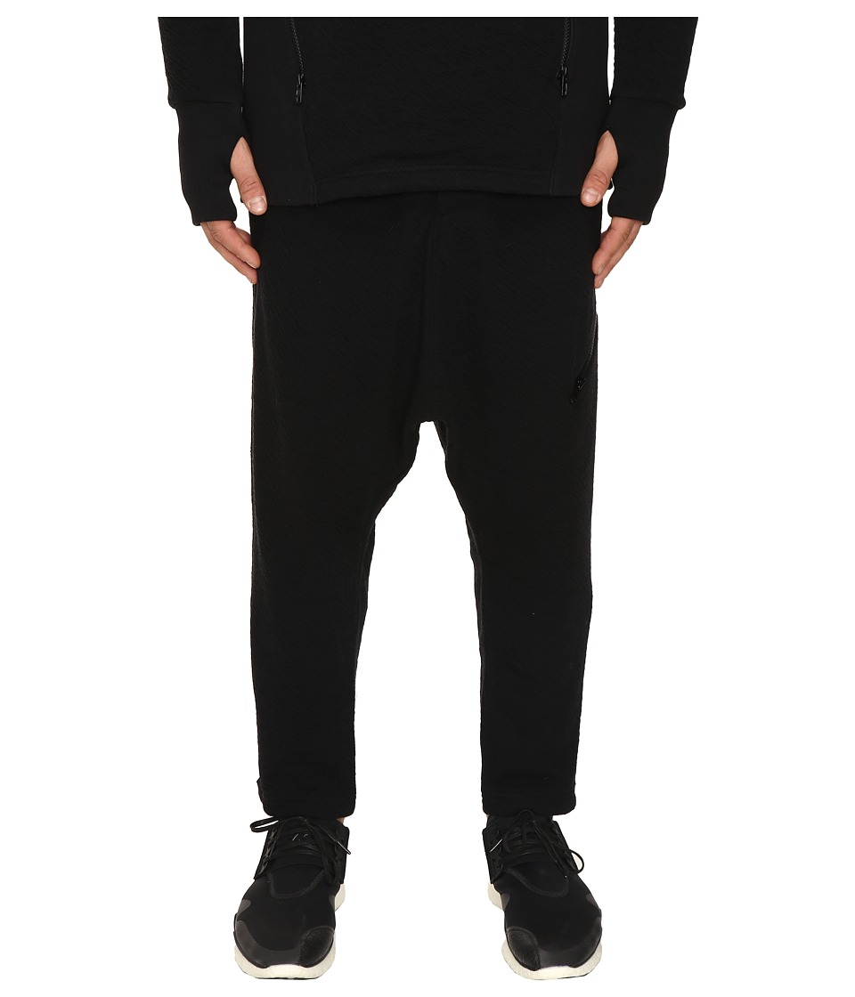 Image of adidas Y-3 by Yohji Yamamoto - Double Jersey Pants (Black) Men's Casual Pants