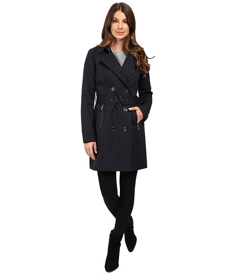 MICHAEL Michael Kors Double-Breasted Belted Trench with Removable Warmer M722325T