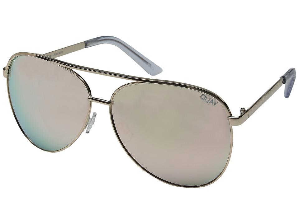 QUAY AUSTRALIA Vivienne (Gold/Rose Mirror) Fashion Sunglasses