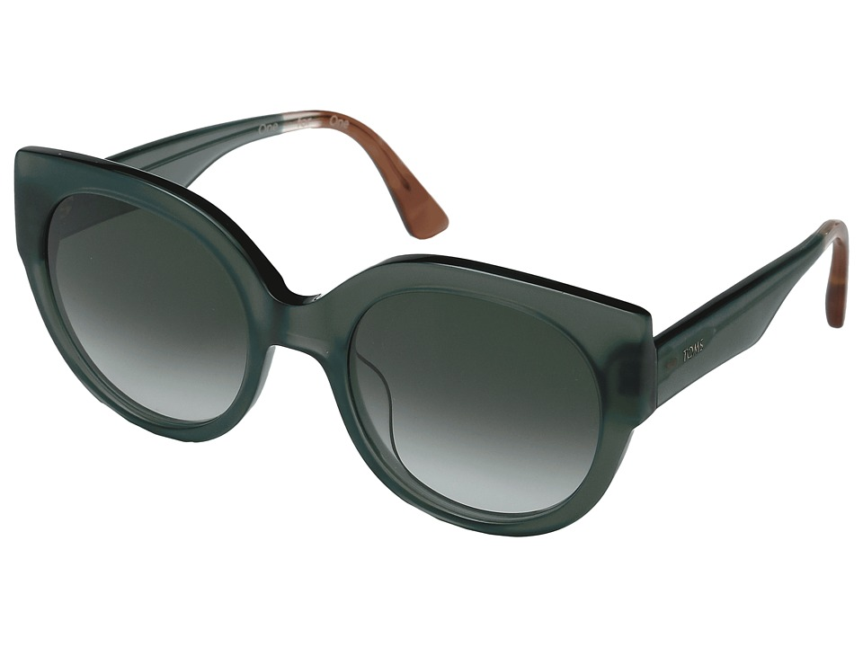 Unique Retro Vintage Style Sunglasses & Eyeglasses TOMS - Luisa Medium Green Fashion Sunglasses $139.00 AT vintagedancer.com