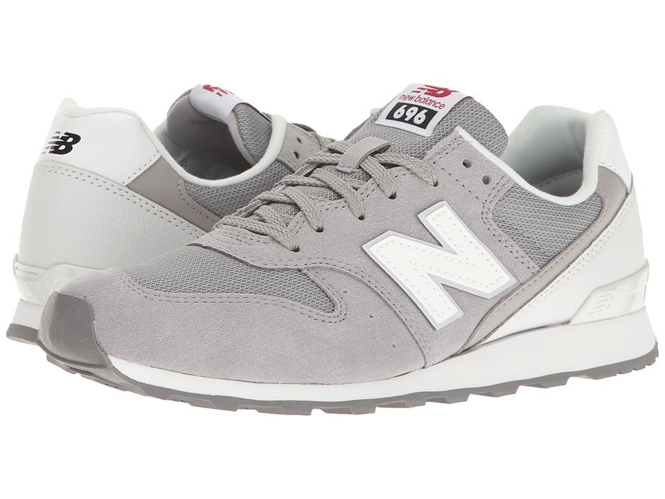 New Balance Classics - WL696 (Grey/White) Womens Classic Shoes