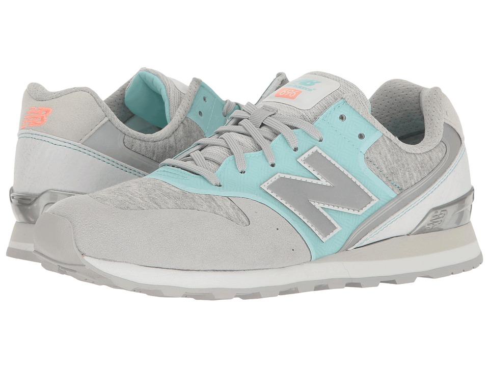New Balance Classics - WL696 (Light Blue/White) Womens Classic Shoes