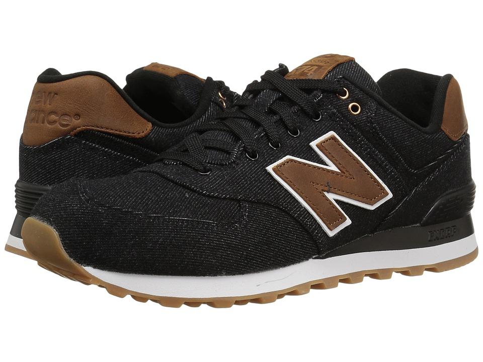 New Balance Classics ML574v1 (Black/Brown) Men