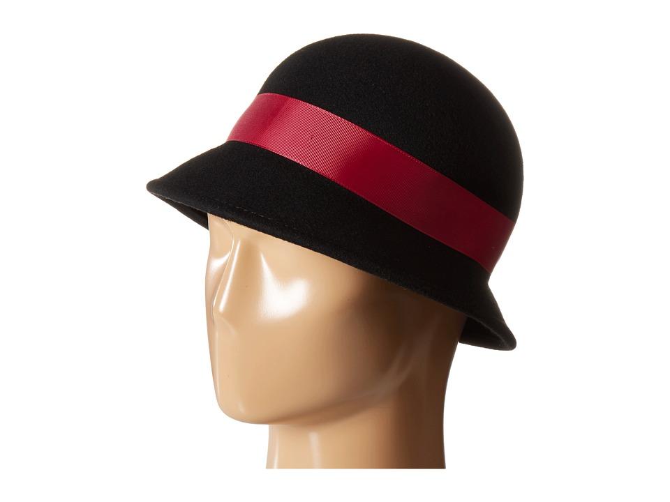 1930s Style Hats – New Vintage Inspired Designs Betmar - Emma Black Caps $34.99 AT vintagedancer.com