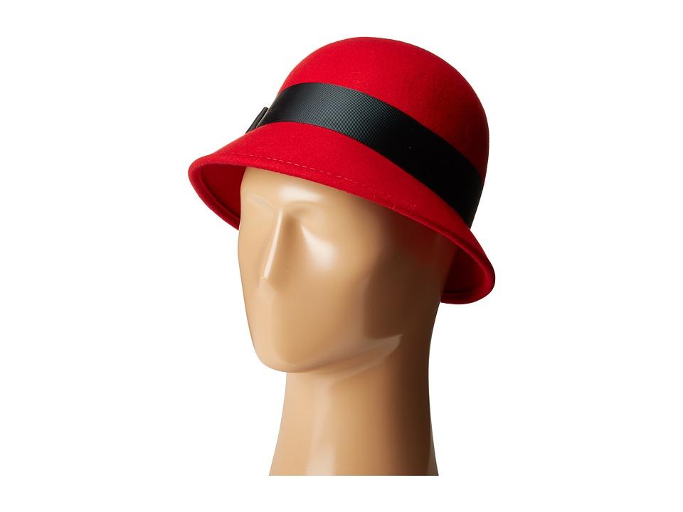 1920s Style Hats Betmar - Emma Scarlet Caps $50.00 AT vintagedancer.com