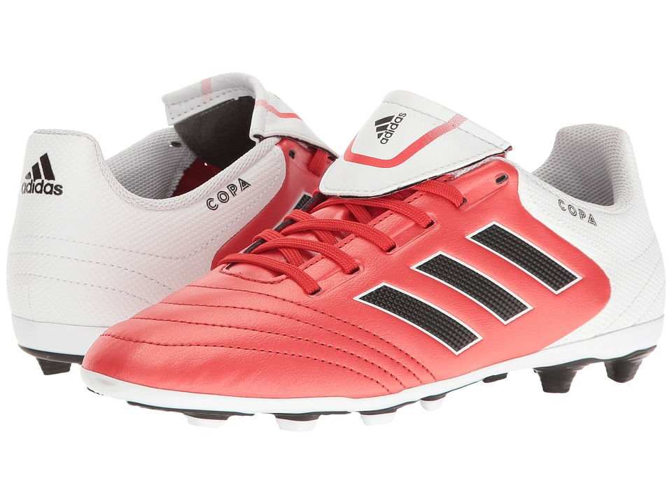adidas Kids Copa 17.4 FxG Soccer (Little Kid/Big Kid) (Red/White/Black) Kids Shoes