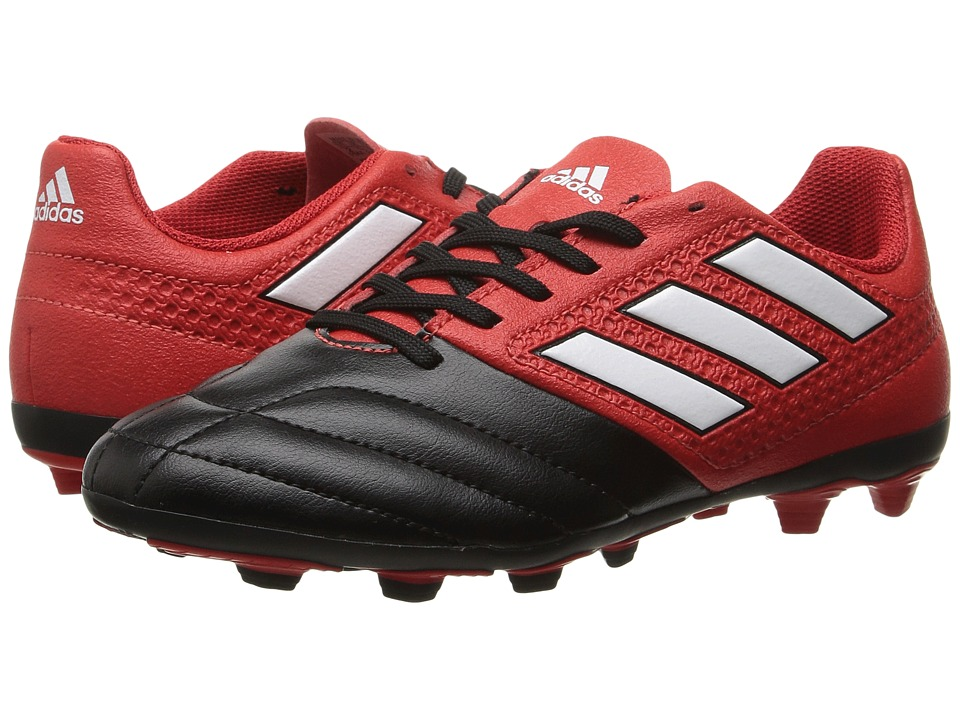 adidas Kids Ace 17.4 FxG Soccer (Little Kid/Bid Kid) (Red/White/Black) Kids Shoes