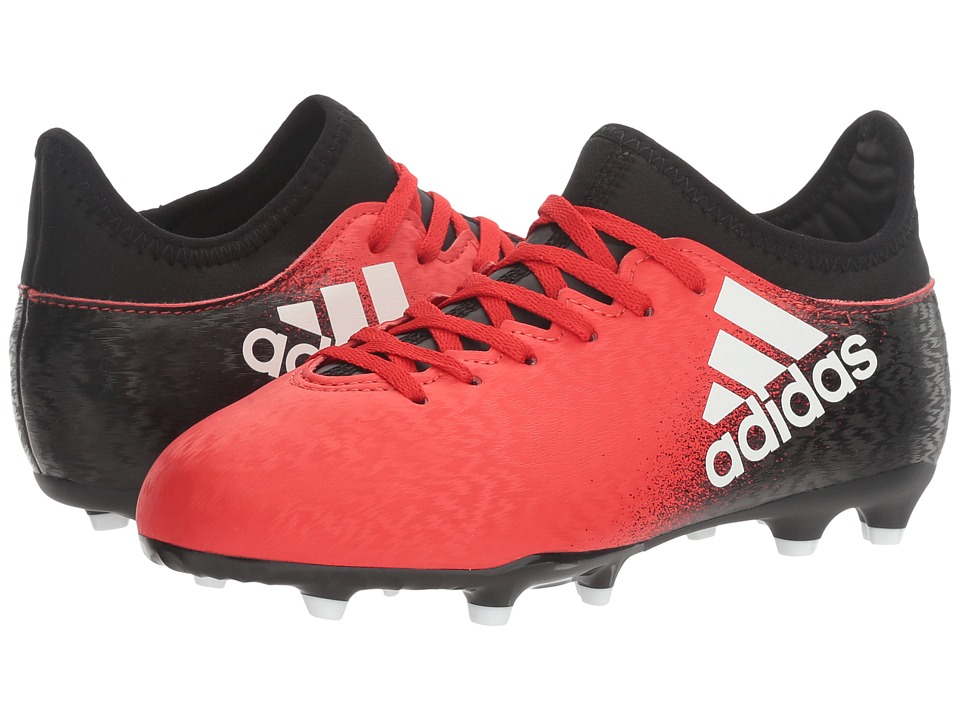 adidas Kids X 16.3 FG Soccer (Little Kid/Bid Kid) (Red/White/Black) Kids Shoes