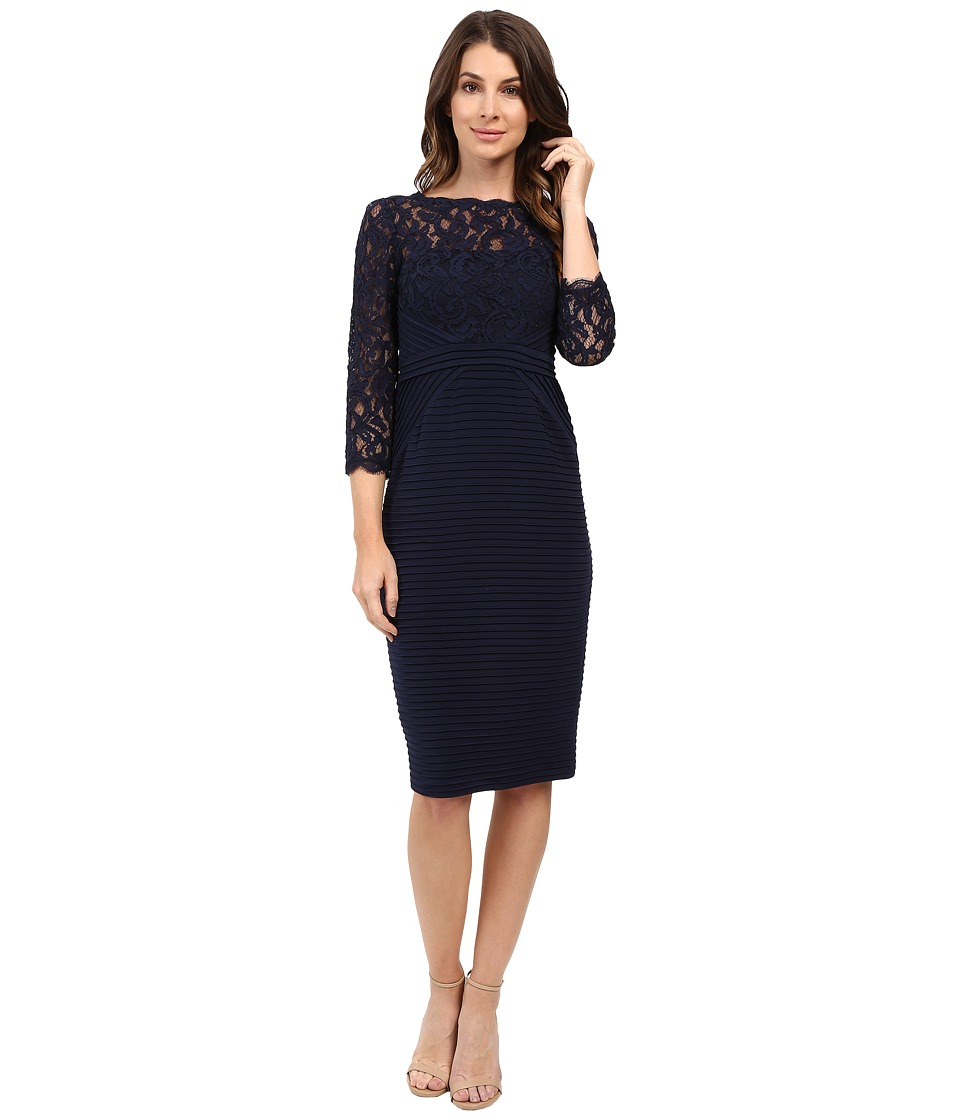 Adrianna Papell - Jersey and Lace Cocktail Dress