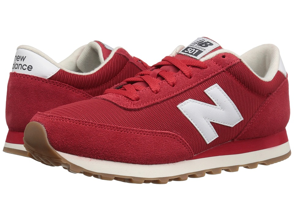 New Balance Classics - ML501 (Red/White) Mens Classic Shoes