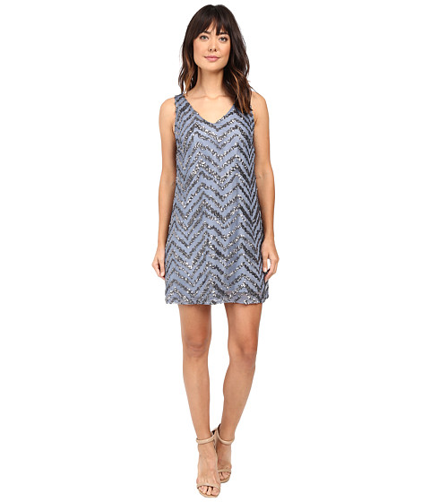 BB Dakota Mayfair Chevron Sequin Dress