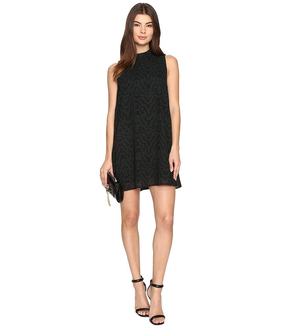 Image of BB Dakota - Adderley Printed Shift Dress (Hunter Green) Women's Dress