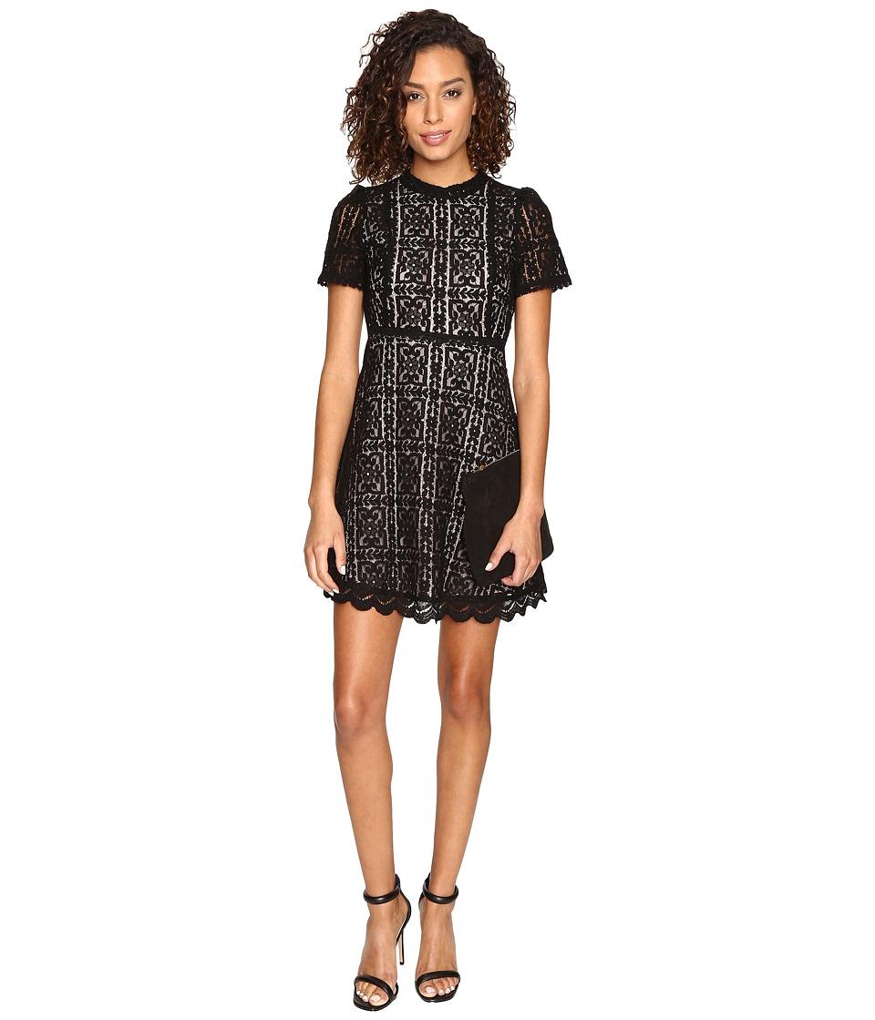 Image of BB Dakota - Adelina Contrast Lace Dress (Black) Women's Dress