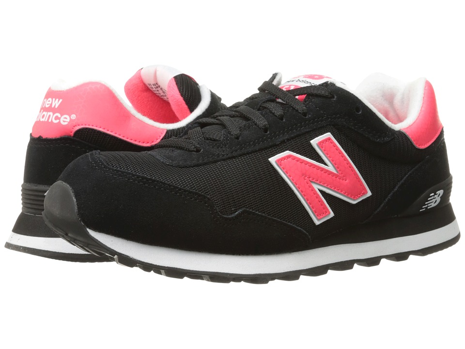 New Balance Classics - WL515 (Black/Bright Cherry 1) Womens Classic Shoes